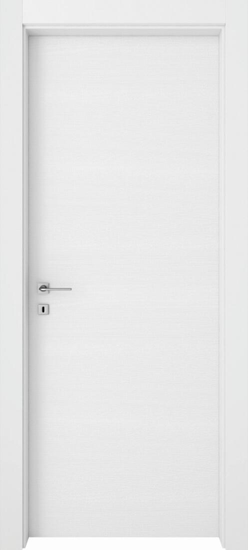 Mod. 201 - Bianco Rusticato con telaio e coprifili Bianco