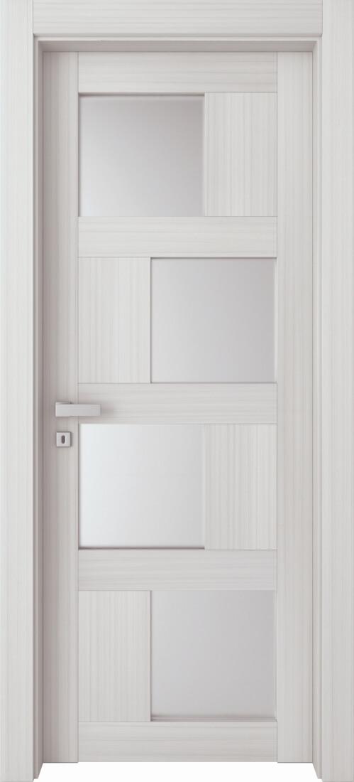 Mod. 264V - Palissandro Bianco con vetro satinato