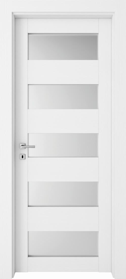 Mod. 265V - Bianco Frassinato con vetro satinato