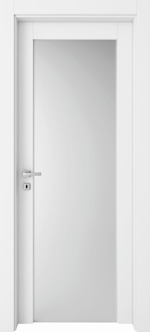 Mod. 280T Glass - Bianco con vetro satinato antinfortunistico